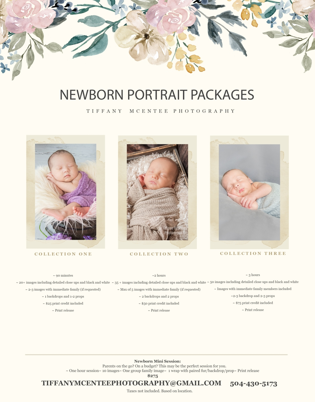 newborn no pricing